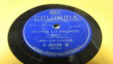 CHUCO NAVARRO COLUMBIA 78 RPM RECORD 20136 OLVIDA LO PASADO