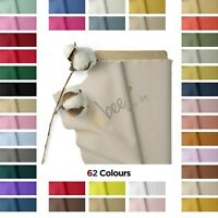 "100% Cotton Fabric Sheeting Craft Quilting Soft Plain Fabric Material, 60"" Wide"
