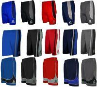 Reebok Men's Athletic Gym Basketball Training Drawstring Two-Tone Shorts