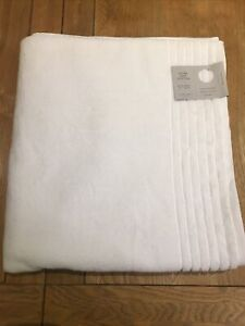 John Lewis Bath Sheet 165 X 90cm White Ultra Soft 100% Cotton Bath Sheet NWT