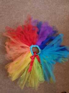 Girls MULTI COLOURED TuTu Skirt Ballet Dance Party Dress Petticoat Fancy Dress