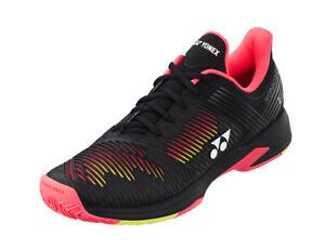 Yonex Power Cushion SONICAGE 2 Tennis Shoes Unisex Black Yellow All Court NWT