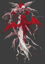 Macabre Fairy Counted Cross Stitch Kit Fantasy/Fairy/Horror/Skulls