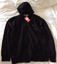 Slazenger Men's Black Sweatshirt Hoodie Cardigan Size XL