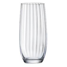 NEW Bohemia Crystal Waterfall Hi-Ball Tumbler 6pc Set Glasses Glassware