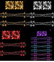 CHRISTMAS FOIL GARLAND FROZEN XMAS HANGING SWIRLS CEILING DECORATIONS SNOW HANG