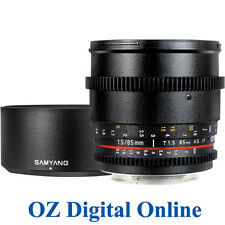 New Samyang 85mm T1.5 AS IF UMC VDSLR for Canon 1 Yr Au Wty