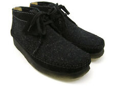 Clarks Originals ** WALLABEES WEAVER ** BLACK COMBI BOOTS ** UK 11 / 10.5