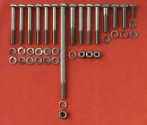 LOTUS FORD CROSSFLOW TWIN CAM FRONT COVER stainless steel HEX head bolt kit