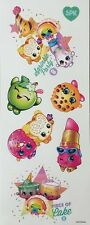 SHOPKINS wall stickers 7 decals SPRINKLE PARTY grocery pal LIPPY LIPS Cake Apple