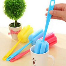 3x Handle Sponge Brush Bottle Cup Glass Washing Cleaning Cleaner Kitchen Tool UK