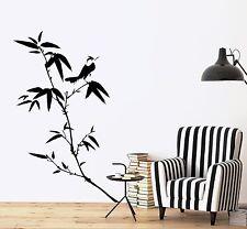 Wall Decal Tree Bamboo Bird Branch Vinyl Sticker (z3640)