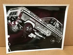 "VINTAGE ORIGINAL B/W DICK HARDING GALPIN FORD WHEELSTANDER TRUCK PHOTO 8"" X 10"""