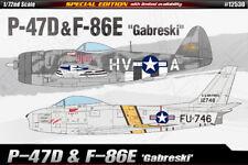 "Academy ESCALA 1:72 - P-47D & F-86E ""Gabreski"" Modelo Kit 12530"