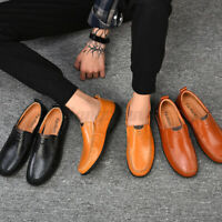 SAMG Men's Leather Loafers Leisure Footwear Shoes Breathable Soft Casua