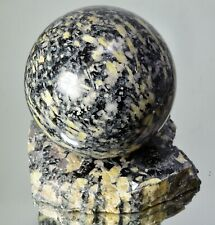 PYKNITE Topaz Crystal Mineral Natural sphere 134 mm with stand #13644 - GERMANY