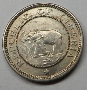 Liberia 1/2 Cent 1941 Copper-Nickel KM#10a UNC