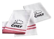 Douceur D'intérieur Set de 2 torchons Chef Etoile coton Rouge 50 x 70 cm