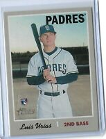 2019 Topps Heritage Baseball Luis Urias Action Variation San Diego Padres