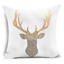 Gold Shining Printed Polyester Throw Pillow Case Sofa Cushion Cover Home Decor