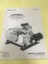 homelite Xl pump  ,illustrated parts list ,IPL,parts list