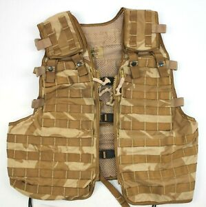 GENUINE BRITISH ARMY LOAD CARRYING TACTICAL VEST  in DESERT DPM CAMO (AUC)