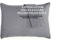 NIP INC CHEETAH GRAPHITE STANDARD SIZE QUILTED PILLOW SHAM IN GRAY