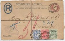 1905 EVII MULTI FRANKED FRONT SENT TO BREMEN GERMANY