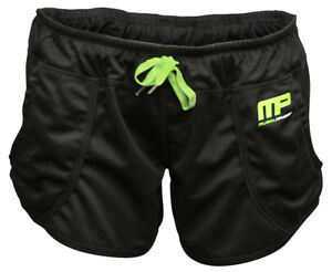 MusclePharm MP Women's Loose Fit Shorts Shorts (Black/Green)