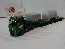 Herpa 305693 # MAN TGX XXL Tieflade-Sattelzug mit Tank und Formschlussbock 1:87