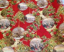 1 x 24m ROLL GIFT WRAP, CURRIER AND IVES DESIGN BRAND NEW SEALED