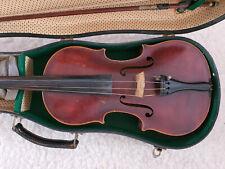 Alte schöne Geige Violine mit Bogen und Koffer