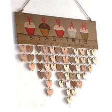 Wooden Birthday Reminder Board Plaque DIY Sign Family&Friend Home Calendar Decor