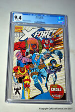 X-FORCE 8 1st Wildpack 1st True Thurman DOMINO 1992 1st ORIGIN of CABLE CGC 9.4