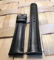 Genuine MOVADO 17mm Small Black Calf Skin Watch Strap Band New Retail $90.00