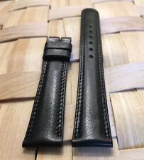 Genuine MOVADO 17mm Black Calf Skin Watch Strap Band Brand New Retail $90.00