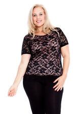 Nylon Short Sleeve Casual Tops & Blouses for Women