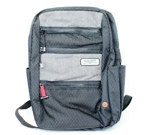 """American Tourister Straightshooter Backpack Black Grey NWT Gray 18"""" X 12"""""""
