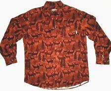 WOOLRICH Flannel Shirt Whitetail Deer Buck Heavy Flannel Long Sleeve Button Down