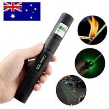 1mw 303 Green Laser Pointer Pen Adjustable Focus 532nm Burning 2 Safety Keys