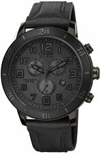 Citizen Eco-Drive AT2205-01E BRT 3.0 Chronograph Black Leather & Dial Mens Watch