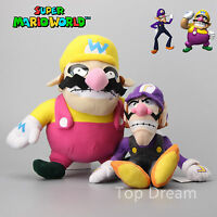 "Super Mario Bros Wario & Waluigi Soft Plush Toy Nintendo Stuffed Doll 11"" NWT"