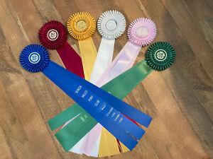 Horse Show Rosettes Ribbons Long 1st-6th place USPC