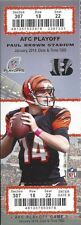 2013-14 NFL AFC WILD CARD PLAYOFFS CHARGERS @ BENGALS UNUSED FOOTBALL TICKET
