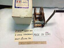 2000 POUND WINCH DUTTON LAINSON (TOP USA MADE BRAND) BOAT TRUCK INDUSTRIAL NEW