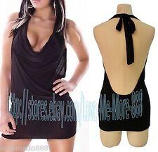 NEW Womens sexy Summer Halter BEACH Dance Clubwear Mini Dress Sundress SMALL
