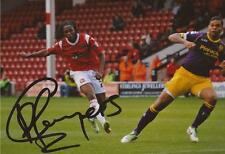 WALSALL: ROMAINE SAWYERS SIGNED 6x4 ACTION PHOTO+COA