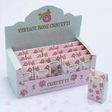 Wedding Confetti Throwing Biodegradable Tissue Paper Pink White Vintage Rose 16 Boxes