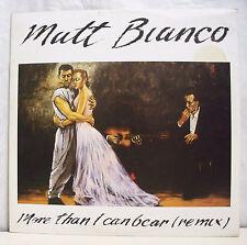 45T MAXI MATT BIANCO Disque Vinyle MORE THAN I CAN BEAR REMIX - WEA 249 142 -0