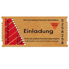 30 Einladungskarten Geburtstag Einladung U2022 Eintrittskarte U2022 Ticket U2022 40 50  60 18